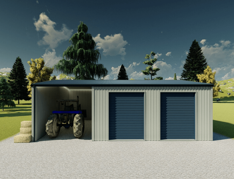 Farm storage shed
