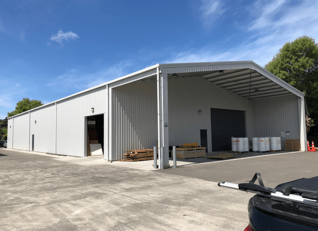 Industrial building shed