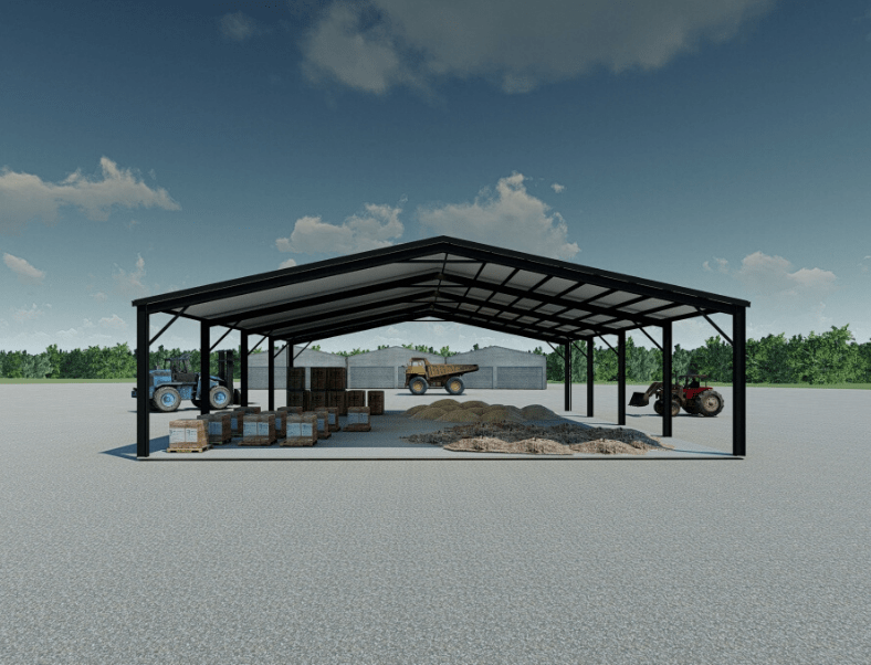Steel shelter render